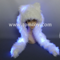 light up polar bear hat tm04516