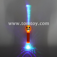 light up pumpkin fiber optic wand tm06219
