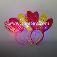 light up rabbit ear headband tm02745