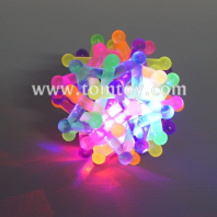 light up rainbow braided ball tm03492