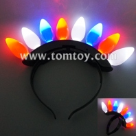light up red-white-blue bulbs headband tm012-090-rwb
