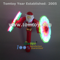 light up santa spinner wand tm052-046