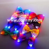 light up silver sequin bow tie tm02961