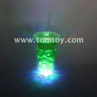 light up skull tumbler cup with straw tm01852-gn