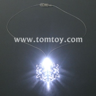 light up snowflake necklace tm000-066-snowflake-wt