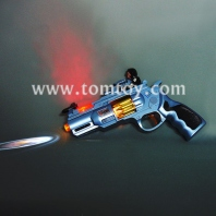 light up space toy gun with spinning leds tm02230