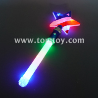 light up star wand with american flag tm06109