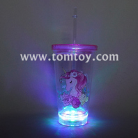 light up unicorn cup with straw tm06537