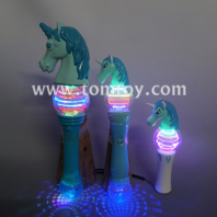 light up unicorn spinning wand tm05755-bl