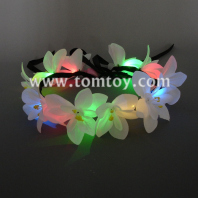 lily flower crown with adjustable ribbon for wedding festivals tm03009