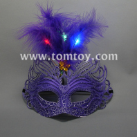 mardi gras masquerade party led masks tm179-002-pur