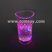 multicolor curved glass flashing cup tm02912