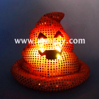 orange poop emoji hat light up costume tm03183-or