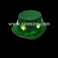 party costume led shamrock hat tm02700