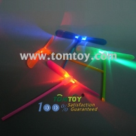 party toys rocket copters slingshot led bamboo dragonfly tm01987