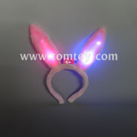 pink cute light up rabbit ear headband tm02738