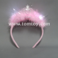pink fluffy led crown tiara tm101-049-pk