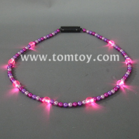 pink led beads necklace tm041-050-pk