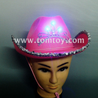 pink light up cowboy hats for women tm02196