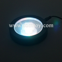 plastic round led coasters tm03305