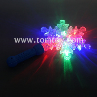 plastic snowflake wand led lights tm03160