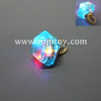 plastic square light up rings aquamarine tm02762-abl