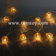 rattan ball string lights tm04335-or