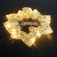 rattan heart string lights tm04337