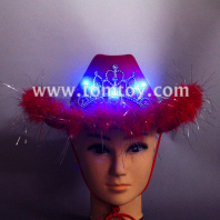 red led imperial crown cowboy hat tm02177