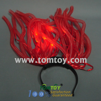 red light up noodle headband with red ribbon tm00441