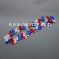 red white blue hawaii leis tm02261-rwb