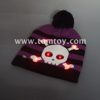 skeleton light up knitted hat tm03999