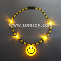 smiley light up beads necklace tm02940