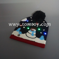 snowman light up knitted hat tm04707