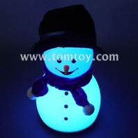 snowman touch night light with sound tm06973