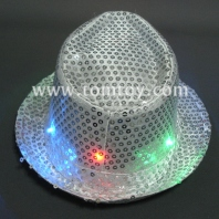 sound activated led fedora light up hat tm000-084-sr