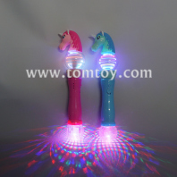 unicorn light up spinning wand tm05636