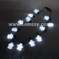 white ghost led necklace tm101-157