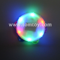 white light up tambourine 5 inches tm02371