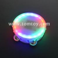 white round led tambourine 6.5 inches tm02373