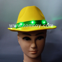 yellow led light up fedora hat for jazz tm02174